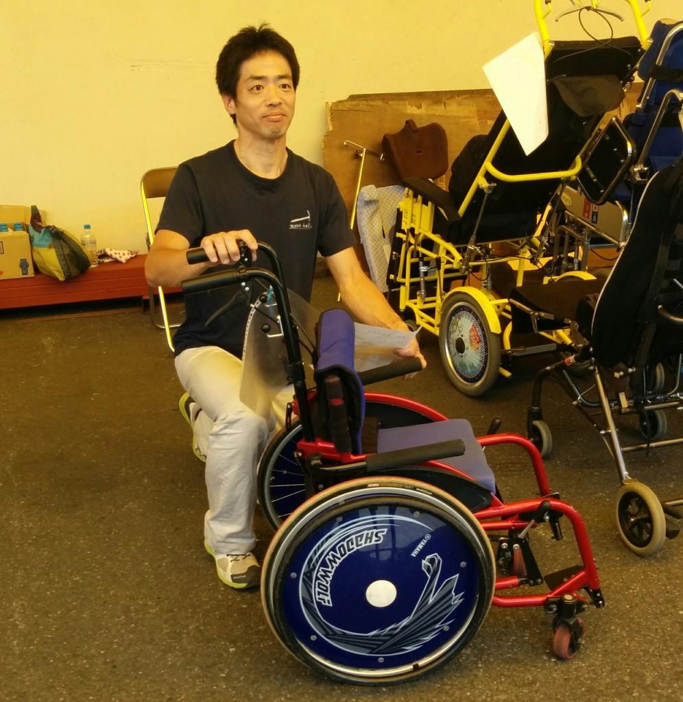 池田さん車椅子2